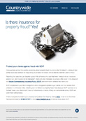 Is there insurance for property fraud?  Yes!