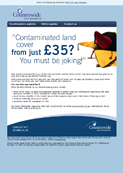 Contaminated land from just £35